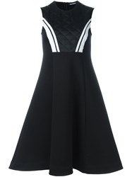 Neil Barrett Quilted Top Sleeveless Dress Black
