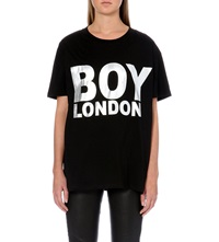 Boy London Metallic Logo T Shirt Black
