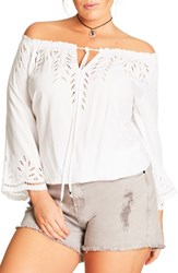 City Chic Plus Size Women's Off The Shoulder Blouse