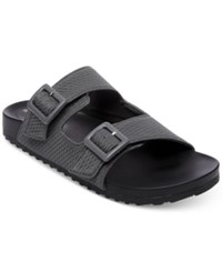 Madden Girl Chase Footbed Sandals Grey