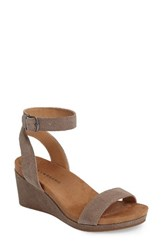 Lucky Brand Women's Karston Wedge Sandal Brindle Suede