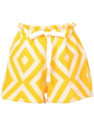 Lemlem Biruhi Textured Shorts Yellow