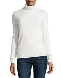 Neiman Marcus Cashmere Turtleneck Sweater Ivory