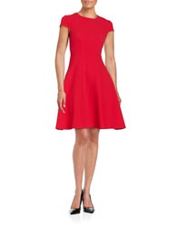 Eliza J Cap Sleeved Fit And Flare Dress