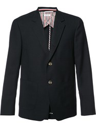 Thom Browne Button Blazer Blue