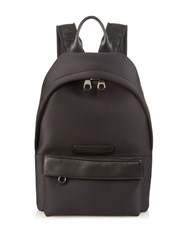 Mcq By Alexander Mcqueen Leather Trim Neoprene Backpack Black