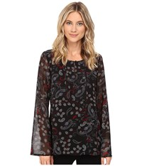 Sanctuary Violetta Blouse Midnight Paisley Women's Blouse Black