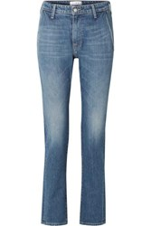 Tre By Natalie Ratabesi The Rhonda Mid Rise Straight Leg Jeans Blue