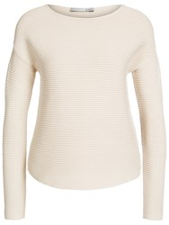 Oui Dropped Shoulder Knit Light Rose