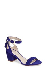 Kenneth Cole Women's Harriet Ankle Strap Sandal Electric Blue Suede
