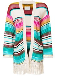 Laneus Mexico Stripe Cardigan Multicolour