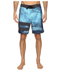 Hurley Phantom Block Party Niuolahiki 19 Boardshorts Bright Aqua Men's Swimwear Blue