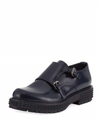 Valentino Punky Chic Double Monk Shoe Blue