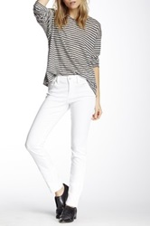 Level 99 Lily Mid Rise Skinny Straight Leg Jean White