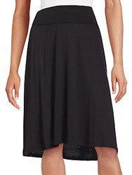 Bobeau Solid Flip Flop Skirt Black