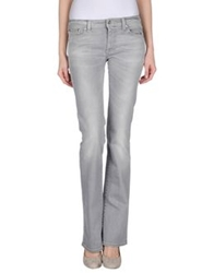Pt0w Denim Pants Light Grey