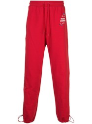 Opening Ceremony Straight Leg Track Pants Red