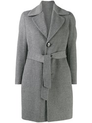 Dsquared2 Belted Coat Grey