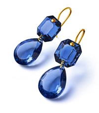 Baccarat Crystal Drops Of Colour Earrings Clear
