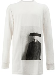 Song For The Mute Photo Print Longsleeved T Shirt Cotton White
