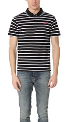 Mcq By Alexander Mcqueen Clean Polo Striped Black White
