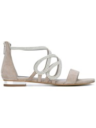 Steffen Schraut Strappy Flat Sandals Grey