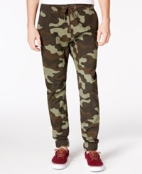 American Rag Men's Kamo Camouflage Print Joggers Only At Macy's Camo Olive