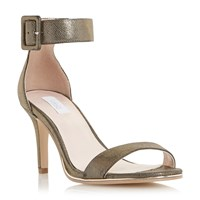 Untold Milly Buckle Strap Sandals Bronze