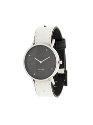 South Lane Avant Raw Watch Stainless Steel Calf Leather Glass White