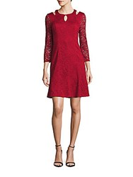 Laundry By Shelli Segal Flippy Hem Lace A Line Dress Sultry Red