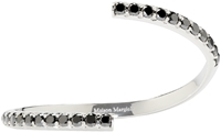 Maison Margiela Fine Jewellery White Gold And Black Diamond Split Alliance Bracelet