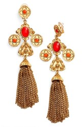 Oscar De La Renta Women's Charm Tassel Clip Earrings