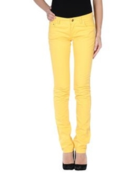 Trussardi Jeans Casual Pants Yellow