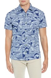 Kahala King Tide Trim Fit Sport Shirt Navy