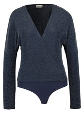 Noisy May Nmdance Long Sleeved Top Black Iris Dark Blue