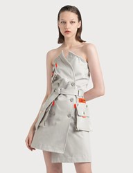 Heron Preston Trench Dress Grey