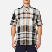 Our Legacy Men's Initial Short Sleeve Shirt Line Check Multi