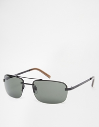 Peter Werth Aviator Sunglasses Black