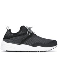 Stampd Panel Lace Up Sneakers Black