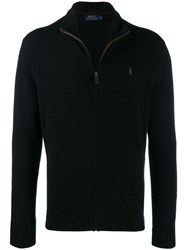 Ralph Lauren Zip Up Cardigan Black