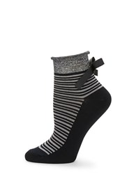 Free People Striped Ankle Socks Dark Grey