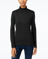 Cable And Gauge Ribbed Turtleneck Sweater Black