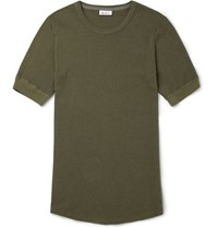 Schiesser Karl Heinz Cotton T Shirt Green