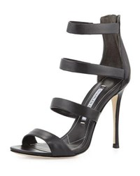 Charles David Olina Strappy Leather Sandal Black