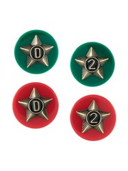 Dsquared2 Star Earrings Zamac Resin Brass Green