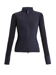 Adidas By Stella Mccartney Run Zip Through Performance Jacket Dark Blue