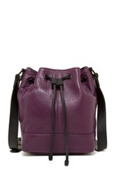 L.A.M.B. Haddie Leather Bucket Bag Purple