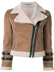 Guild Prime Copped Biker Jacket Brown