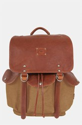 Men's Will Leather Goods 'Lennon' Backpack Beige Tobacco Saddle