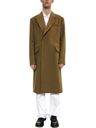 Raf Simons Virgin Wool And Cashmere Coat Brown